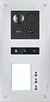 Unterputz-Türstation Silver für 3-Familienhaus BALTER ERA, 2-Draht BUS, 180° Weitwinkelkamera-ERA-3FAM