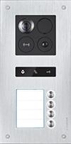 Unterputz-Türstation Silver für 4-Familienhaus BALTER ERA, 2-Draht BUS, 180° Weitwinkelkamera-ERA-4FAM