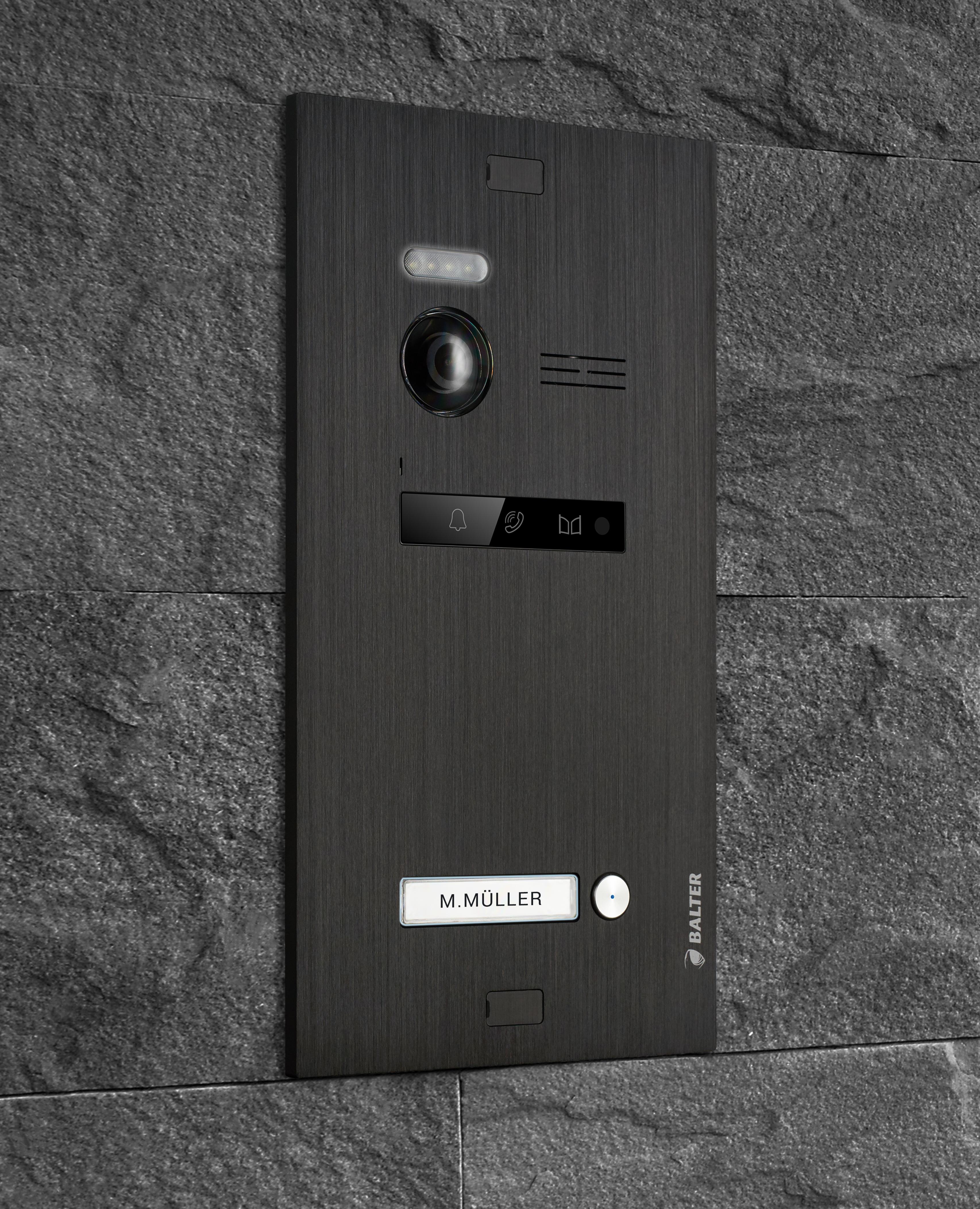Balter EVO Unterputz-Türstation mit 150 Grad Bildwinkel für 1-Familienhaus