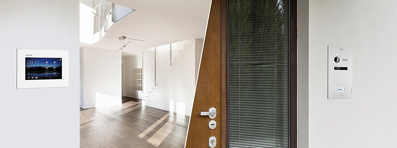 Balter EVO Video Türsprechanlage mit 7 Zoll TFT Touchscrween Monitor und 150 Grad Bildwinkel Kamera für 1-Familienhaus