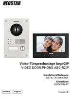 Bedienungsanleitung für NEOSTAR Aegir 2-Draht IP Video Türsprechanlage