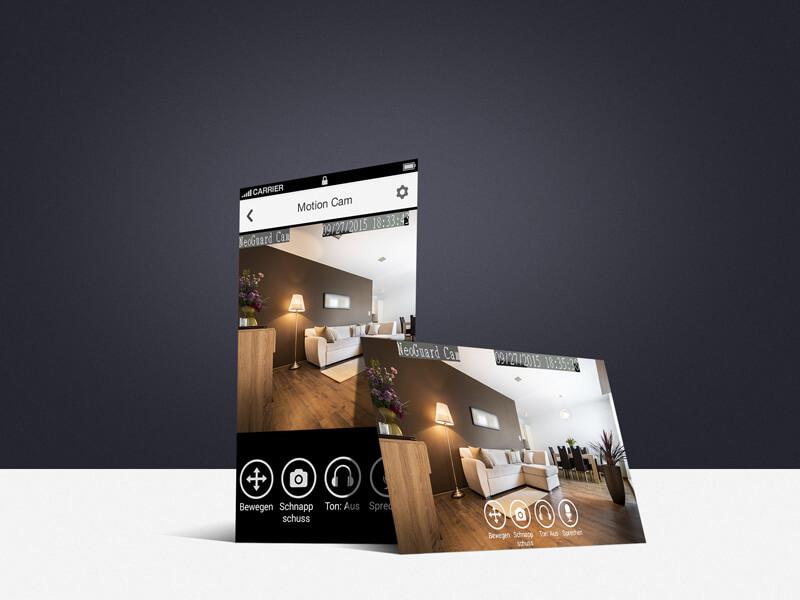 smart home system neoguard motioncam hd ip kamera online preiswert kaufen. Black Bedroom Furniture Sets. Home Design Ideas