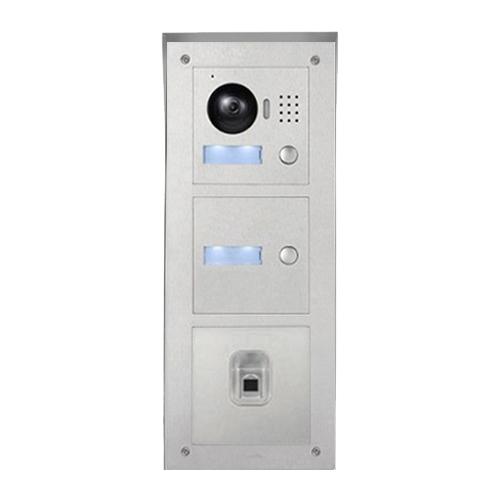 ip t rklingel mit kamera f r 2 familienhaus mit fingerprint aufputz au enstation und 2x7 lcd. Black Bedroom Furniture Sets. Home Design Ideas
