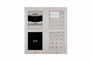 2n ip videosprechanlage mit rfid modul und zahlen code funktion f r 2 familienhaus mit 2x7. Black Bedroom Furniture Sets. Home Design Ideas