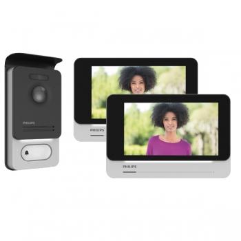 PHILIPS WLAN Video Türsprechanlage für 2-Familienhaus mit 7