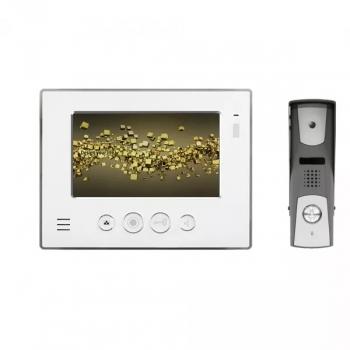 video t rsprechanlage f r 1 familienhaus mit aufputz t rstation und 7 monitor is e07as online. Black Bedroom Furniture Sets. Home Design Ideas