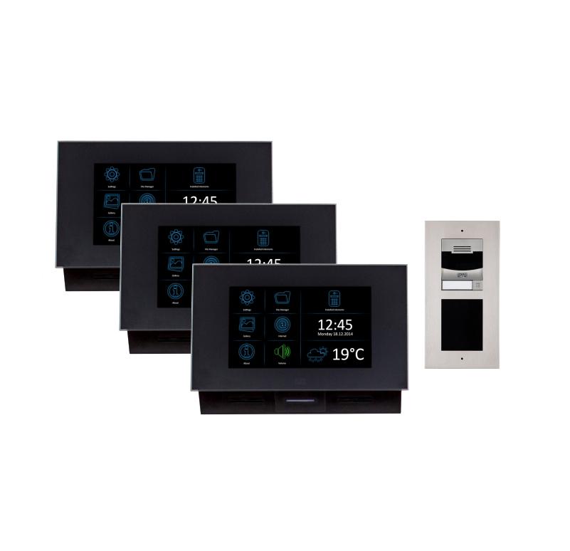 2n ip videosprechanlage f r 1 familienhaus mit 3x 7. Black Bedroom Furniture Sets. Home Design Ideas