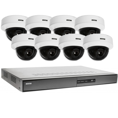 video berwachung system 8x dome berwachungskamera 600tvl 8 kanal dvr 1tb is nks21. Black Bedroom Furniture Sets. Home Design Ideas