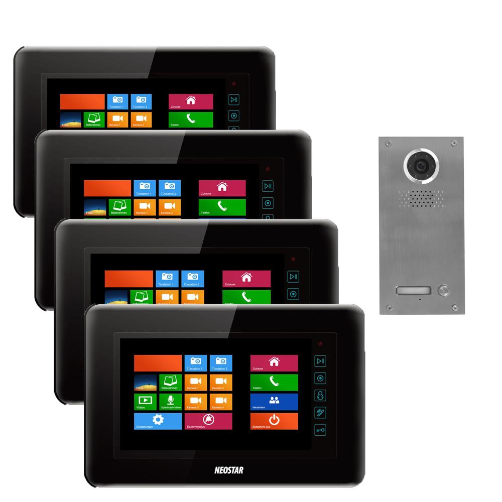 neostar video t rsprechanlage f r 1 familienhaus mit 7 tft lcd touchscreen bildschirm 4wt7. Black Bedroom Furniture Sets. Home Design Ideas