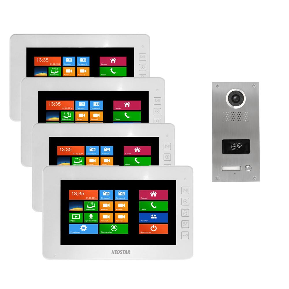 Videotürsprechanlage für 1-Familienhaus mit 7\