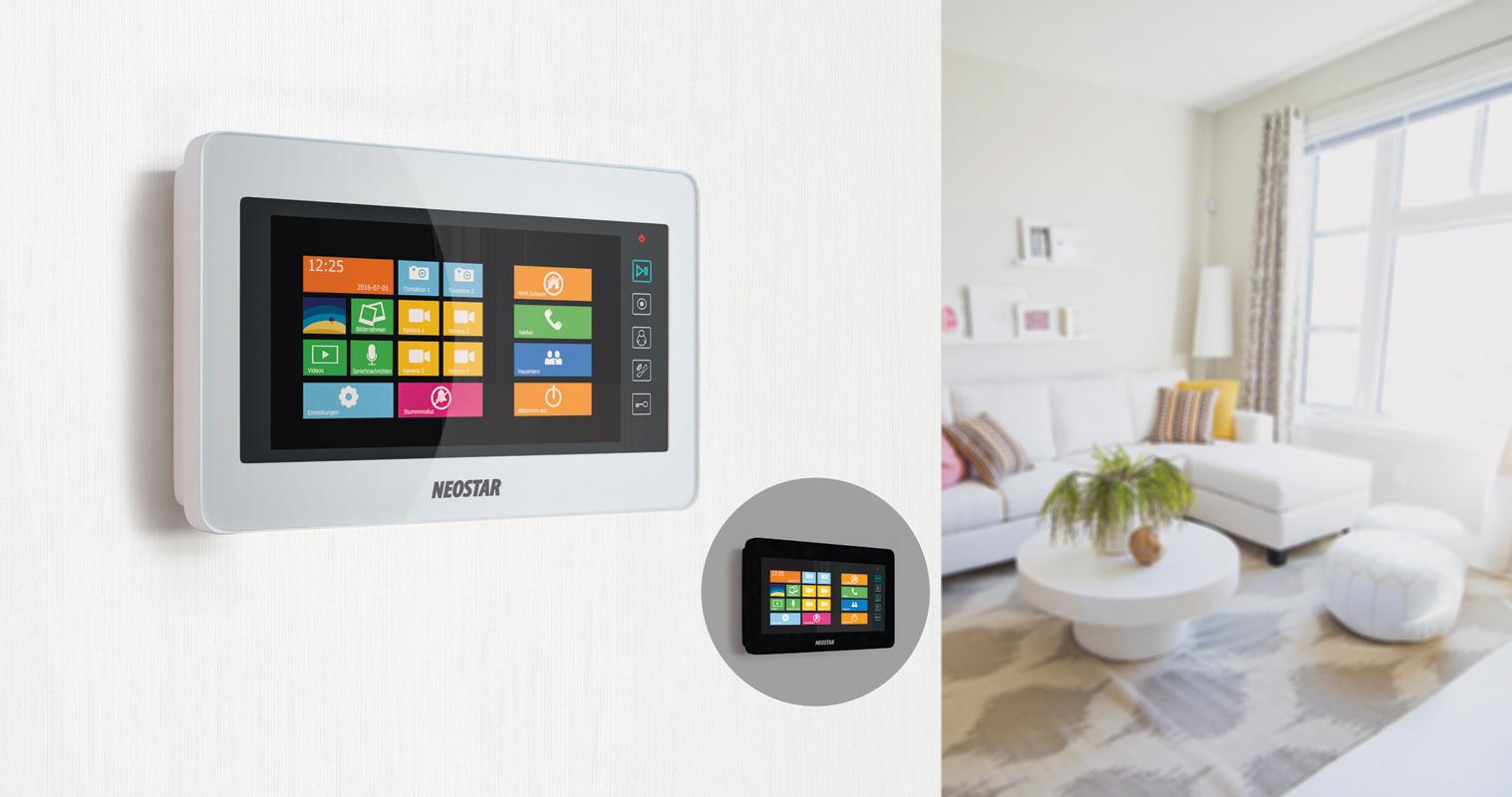 video t rsprechanlage f r 2 familienhaus mit 7 display. Black Bedroom Furniture Sets. Home Design Ideas