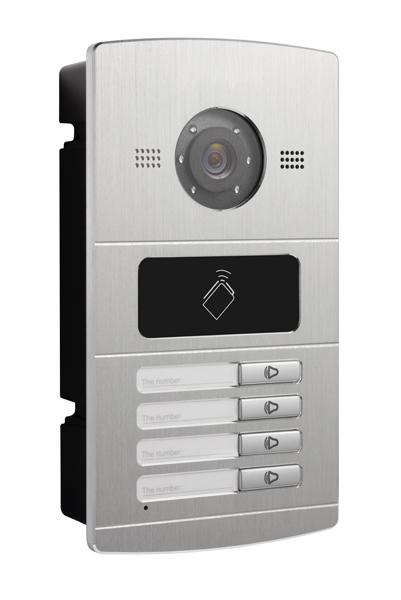 Bevorzugt WLAN IP Türsprechanlage für 4-Familienhaus mit 4x7