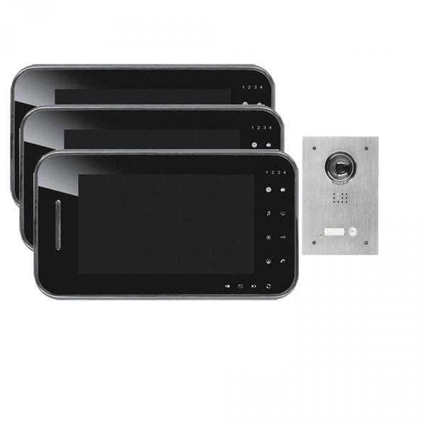 video t rsprechanlage f r 1 familienhaus 2 draht technik online preiswert kaufen. Black Bedroom Furniture Sets. Home Design Ideas