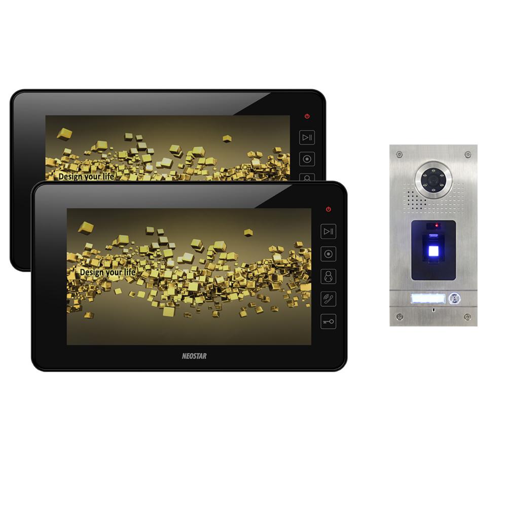 neostar video sprechanlage f r 1 familienhaus mit 2x7 tft lcd und fingerprint bmv 2e7tf. Black Bedroom Furniture Sets. Home Design Ideas
