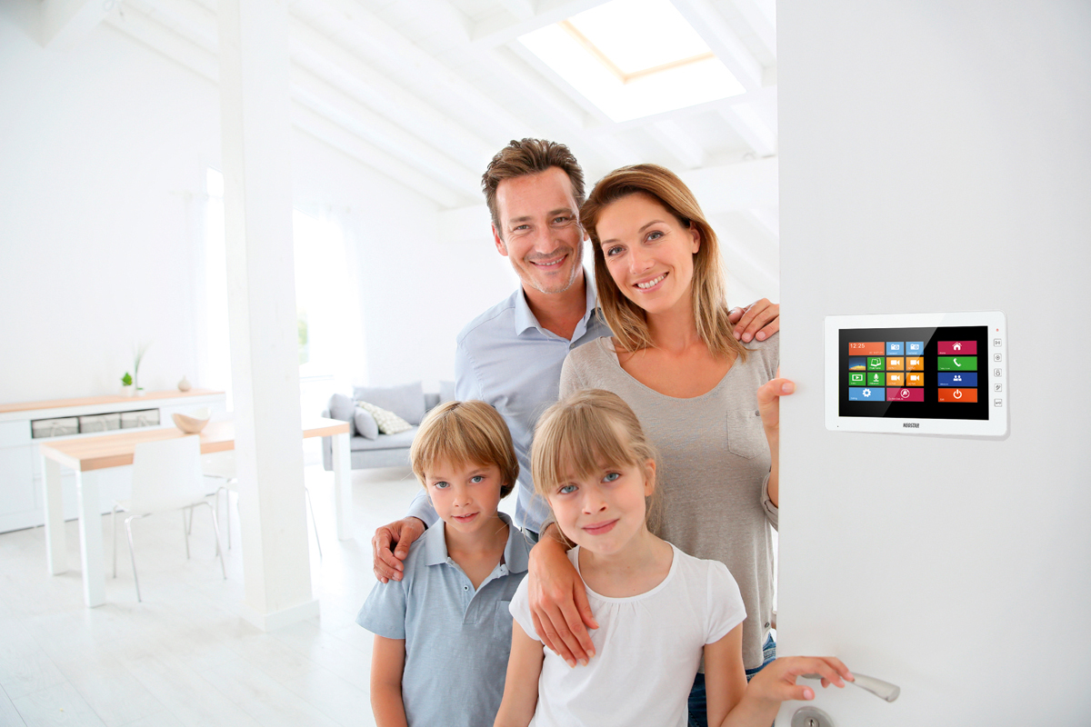 video t rsprechanlage f r 1 familienhaus mit 7 tft lcd online preiswert kaufen. Black Bedroom Furniture Sets. Home Design Ideas