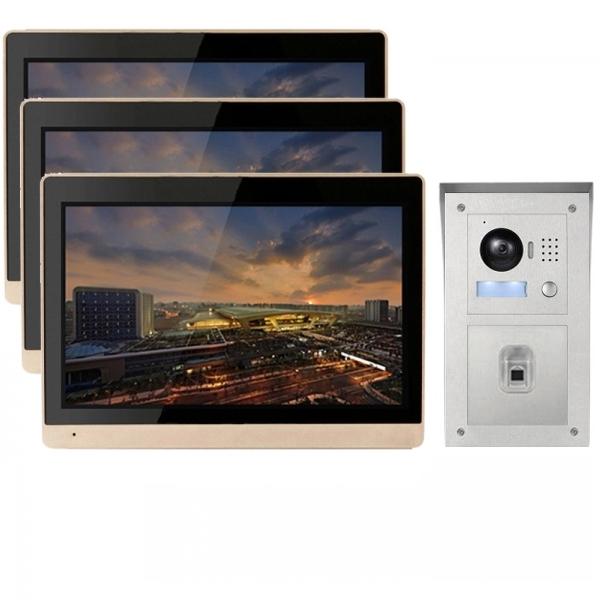IP Video Türsprechanlage mit Fingerprint Aufputz-Außenstation und ...