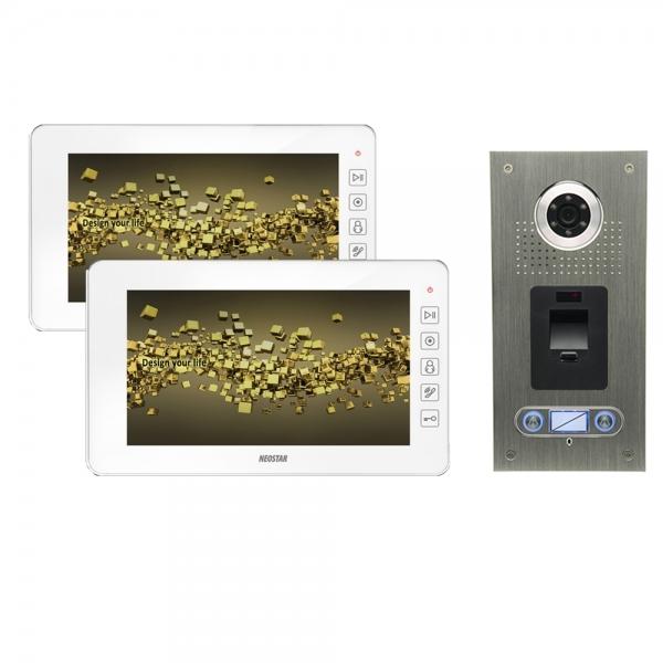 video sprechanlage f r 2 familienhaus mit 2x7 tft lcd und fingerprint bmv 22e7tf online. Black Bedroom Furniture Sets. Home Design Ideas