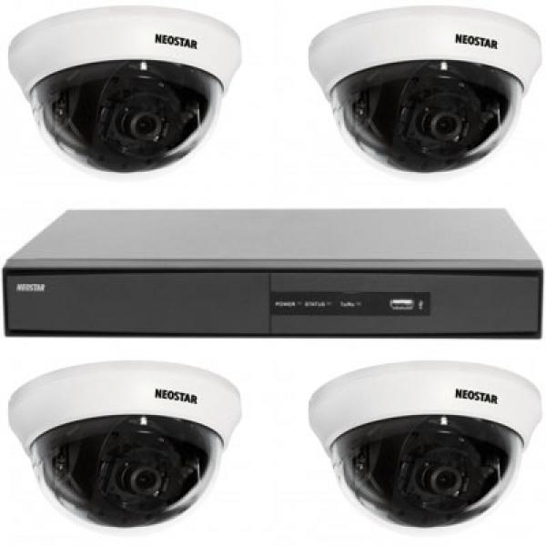 NEOSTAR Videoüberwachungssystem Mini Dome-Kamera SONY 600TVL Videoüberwachungssystem Mini Dome-Kamera SONY 600TVL