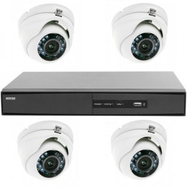 NEOSTAR Überwachungssystem Farb Überwachungskamera 600TVL Überwachungssystem Farb Überwachungskamera 600TVL