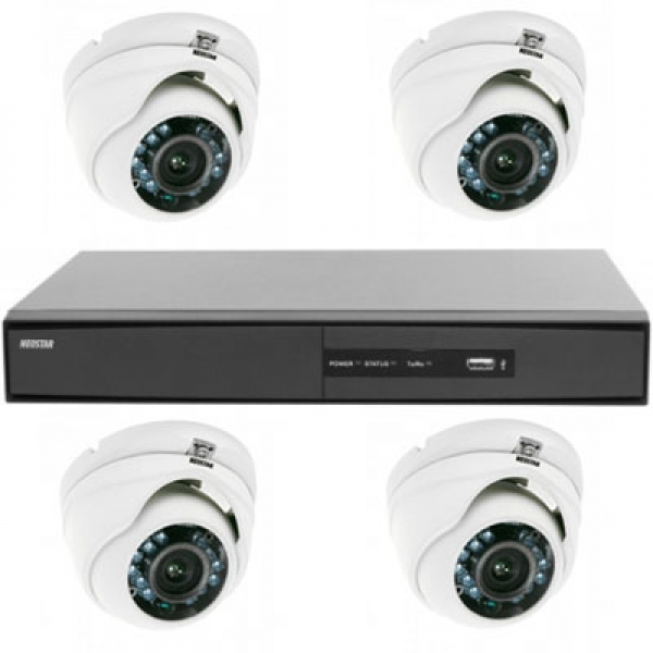 NEOSTAR Videoüberwachung System mit Farb Mini IR Dome Überwachungskamera Videoüberwachung System mit Farb Mini IR Dome Überwachungskamera