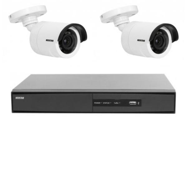 NEOSTAR Videoüberwachung Set Farb Überwachungskamera mit SONY CCD 720TVL Videoüberwachung Set Farb Überwachungskamera mit SONY CCD 720TVL