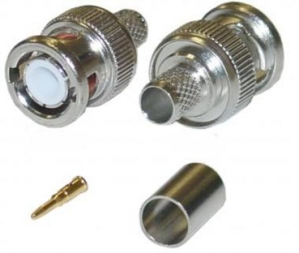 NEOSTAR BNC-Crimpstecker für RG59 Videokabel mit Gold-Pin BNC-Crimpstecker für RG59 Videokabel mit Gold-Pin