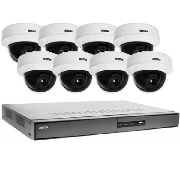 NEOSTAR Videoüberwachung System 8xDome Überwachungskamera 600TVL Videoüberwachung System 8xDome Überwachungskamera 600TVL