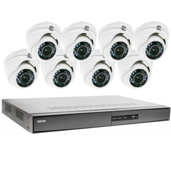 NEOSTAR Videoüberwachung Set 8x IR Dome Überwachungskamera 600/720TVL Videoüberwachung Set 8x IR Dome Überwachungskamera 600/720TVL