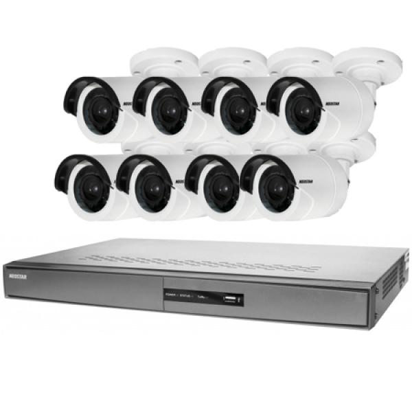 NEOSTAR Videoüberwachung Set 8xIR Überwachungskamera 600/720TVL Videoüberwachung Set 8xIR Überwachungskamera 600/720TVL
