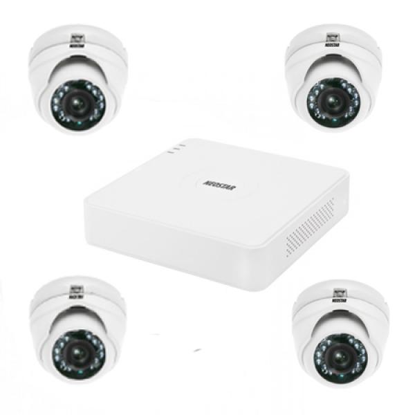 NEOSTAR Video Überwachungssystem mit Mini IR Dome-Kamera Video Überwachungssystem mit Mini IR Dome-Kamera