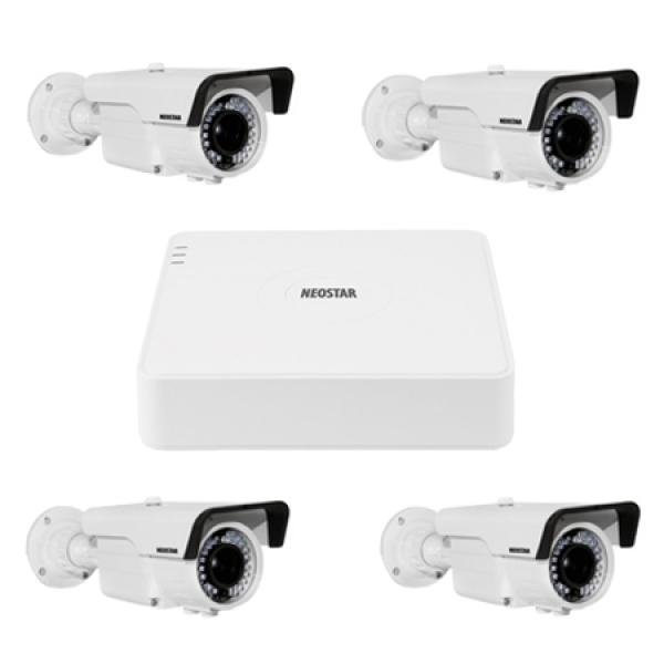 NEOSTAR Video Überwachungssystem mit 4xFarb Überwachungskamera 600TVL Video Überwachungssystem mit 4xFarb Überwachungskamera 600TVL