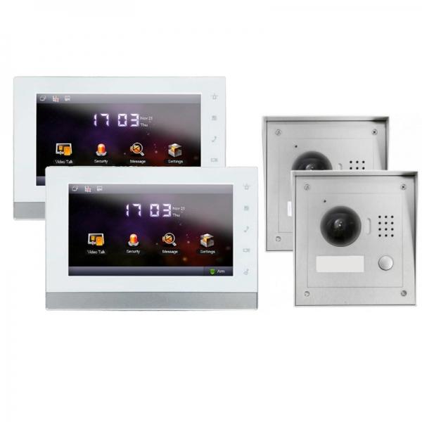 """IhrSchutz24 IP Türklingel mit Kamera für 1-Familienhaus mit 2xAufputz Außenstation und 2x7"""" LCD-2IPSET02 IP Türklingel mit Kamera für 1-Familienhaus mit 2xAufputz Außenstation und 2x7"""" LCD-2IPSET02"""