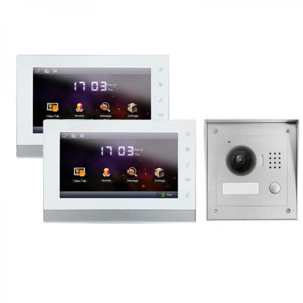 """IhrSchutz24 IP Türklingel mit Kamera für 1-Familienhaus mit Aufputz Außenstation und 2x7"""" LCD-IS-2IPSET01 IP Türklingel mit Kamera für 1-Familienhaus mit Aufputz Außenstation und 2x7"""" LCD-IS-2IPSET01"""