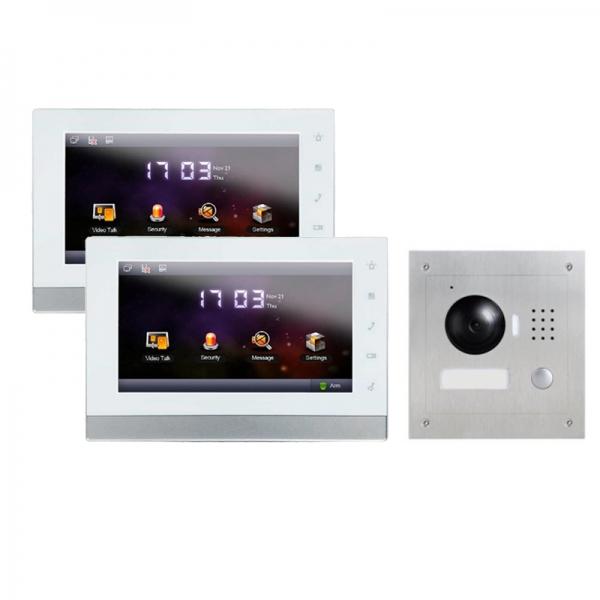 IhrSchutz24 IP Türklingel mit Kamera für 1-Familienhaus mit Unterputz Außenstation und 2x7