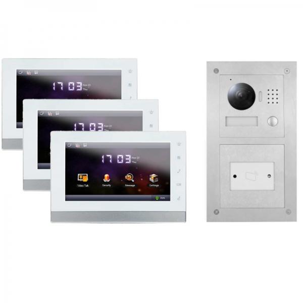 IhrSchutz24 2-Draht IP Video Sprechanlage für 1-Fam.Haus mit RFID und 3x7