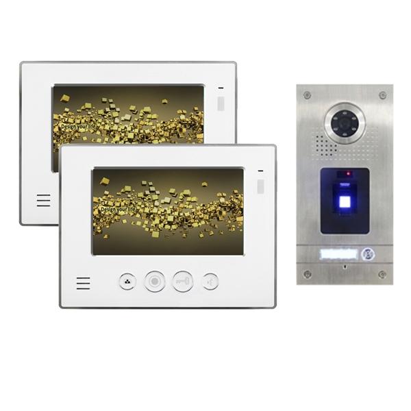 """NEOSTAR Video Gegensprechanlage für 1-Familienhaus 2x7"""" TFT-LCD mit Fingerprint-IS-2E07TF Video Gegensprechanlage für 1-Familienhaus 2x7"""" TFT-LCD mit Fingerprint-IS-2E07TF"""