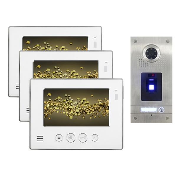 """NEOSTAR Video Gegensprechanlage für 1-Familienhaus 3x7"""" TFT-LCD mit Fingerprint-IS-3E07TF Video Gegensprechanlage für 1-Familienhaus 3x7"""" TFT-LCD mit Fingerprint-IS-3E07TF"""