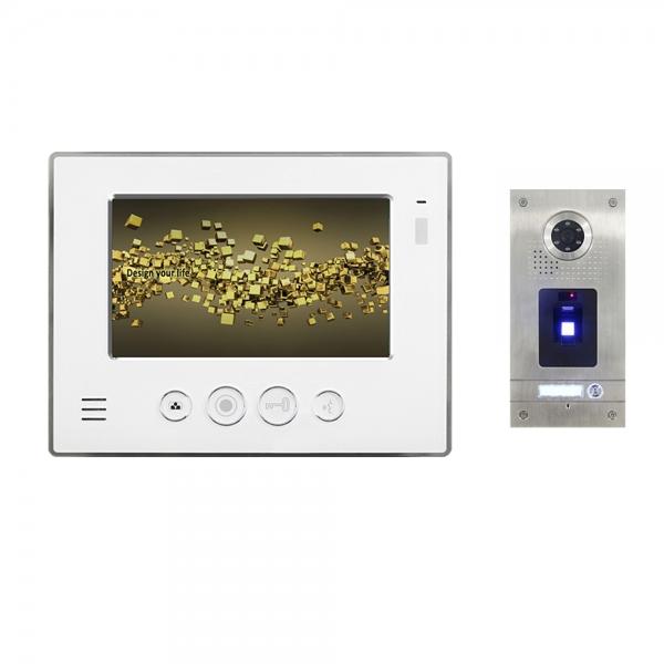 """IhrSchutz24 Video Gegensprechanlage für 1-Familienhaus 1x7"""" TFT-LCD mit Fingerprint-IS-E07TF Video Gegensprechanlage für 1-Familienhaus 1x7"""" TFT-LCD mit Fingerprint-IS-E07TF"""