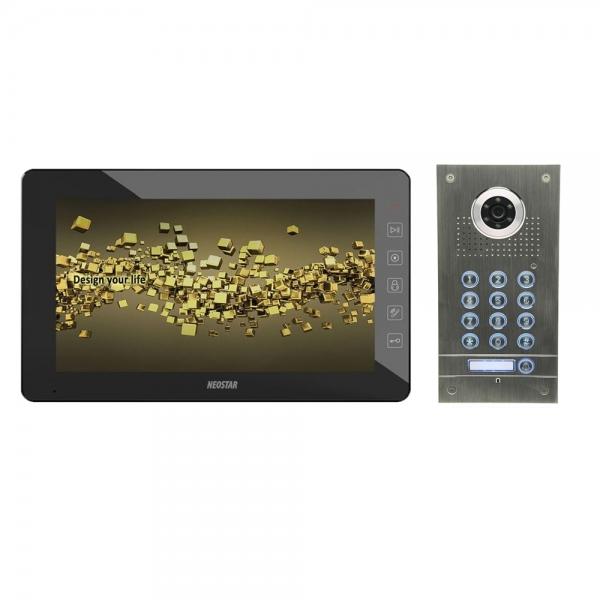 neostar videosprechanlage f r 1 familienhaus 10 zoll bildschirm mit code funktion bmv e10tc. Black Bedroom Furniture Sets. Home Design Ideas