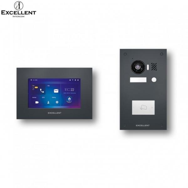Excellent-Intercom Excellent 2 Draht Video Türsprechanlage mit HD Kamera 150° mit RFID Excellent 2 Draht Video Türsprechanlage mit HD Kamera 150° mit RFID