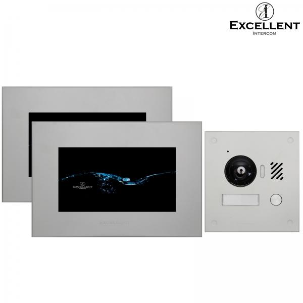 "Excellent-Intercom IP-Video-Tuersprechanlage-2-Draht-mit-HD-Kamera, 2x7"", Unterputz IP-Video-Tuersprechanlage-2-Draht-mit-HD-Kamera, 2x7"", Unterputz"