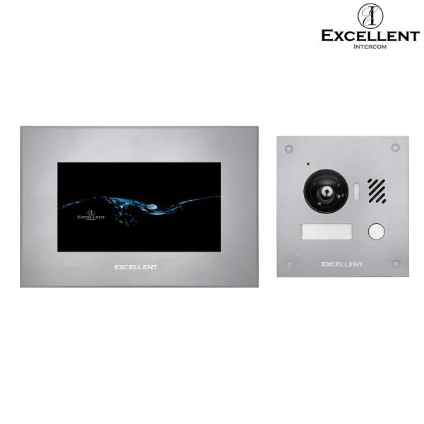 Excellent-Intercom IP Video Türsprechanlage 2-Draht mit HD Kamera 150°, Unterputz IP Video Türsprechanlage 2-Draht mit HD Kamera 150°, Unterputz