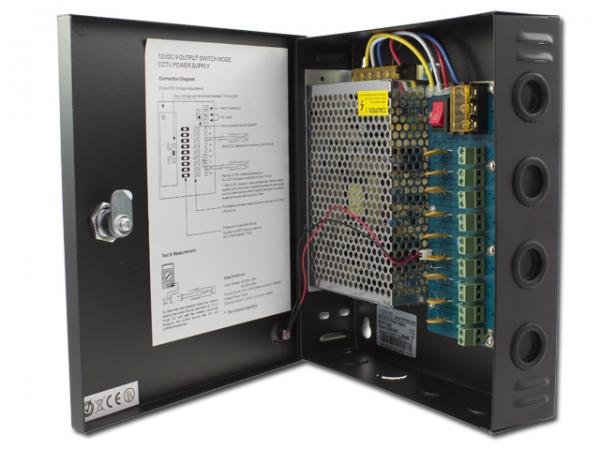 IhrSchutz24 9 Kanal CCTV Netzgerät 200-240V AC / 12V DC, 5A 9 Kanal CCTV Netzgerät 200-240V AC / 12V DC, 5A