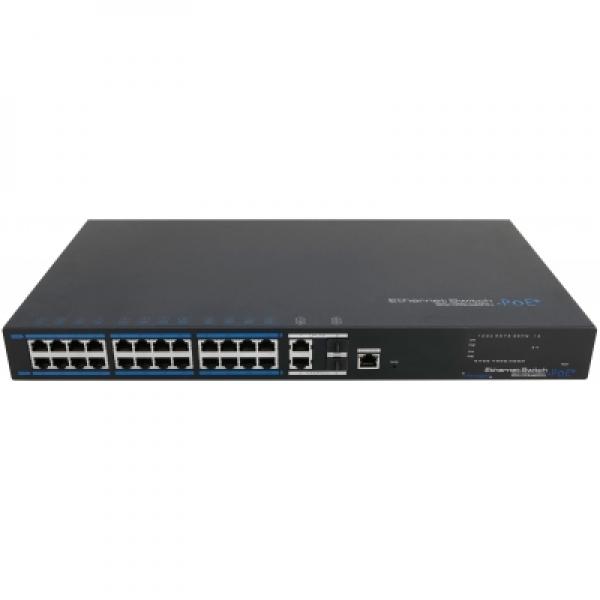 IhrSchutz24 24x PoE Netzwerk Switch, 2x Gigabit Uplink-Ports, 380W, CCTV-Modus 24x PoE Netzwerk Switch, 2x Gigabit Uplink-Ports, 380W, CCTV-Modus