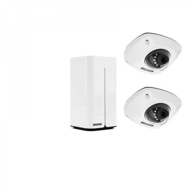 NEOSTAR WLAN Kompletset mit 2x 4MP WIFI IP Dome-Kameras, inkl.1TB IS-WLAN SET 1