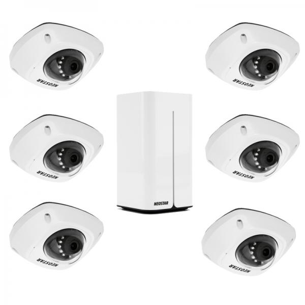 NEOSTAR WLAN Kompletset mit 6x 4MP WIFI IP Dome-Kameras, inkl.1TB IS-WLAN SET 3