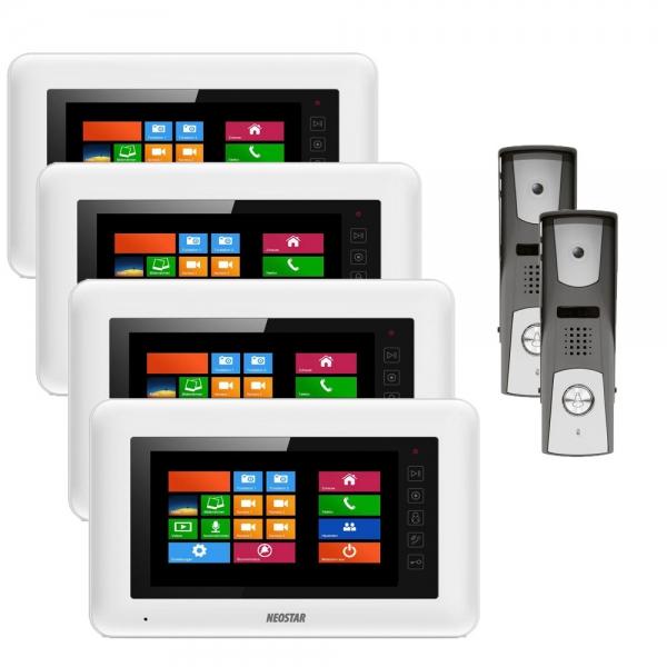 video sprechanlage mit aufputz t rstation f r 1 familienhaus online preiswert kaufen. Black Bedroom Furniture Sets. Home Design Ideas