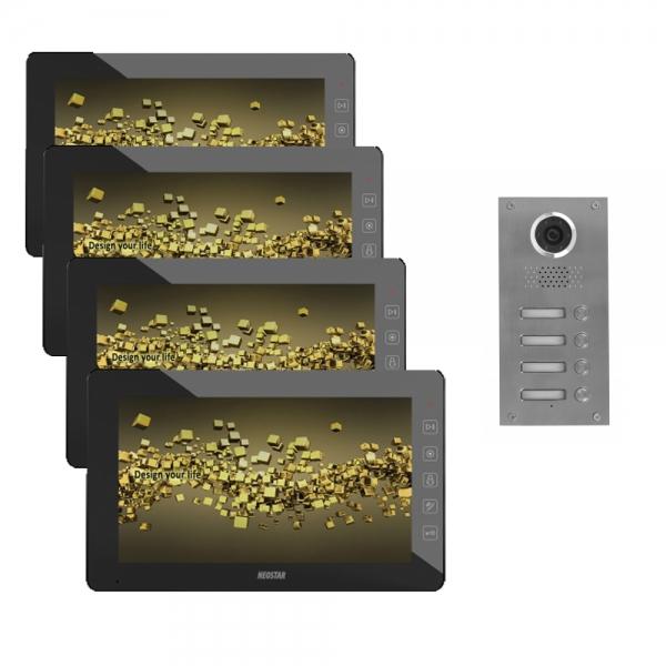 video t rsprechanlage f r 4 familienhaus mit 10 tft bildschirm bmv e410t online preiswert kaufen. Black Bedroom Furniture Sets. Home Design Ideas