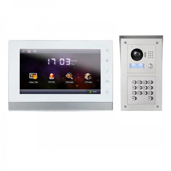 """IhrSchutz24 IP Video Klingelanlage mit 7"""" LCD und Aufputz Außenstation mit Code-Funktion-IPSET01C IP Video Klingelanlage mit 7"""" LCD und Aufputz Außenstation mit Code-Funktion-IPSET01C"""
