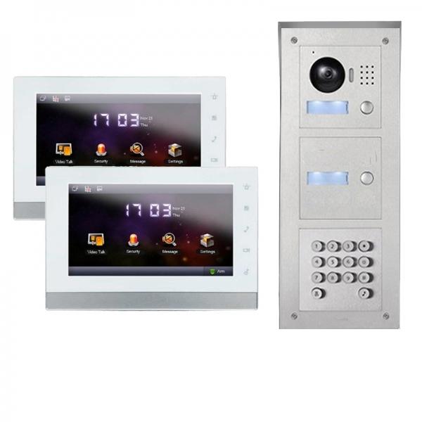 IhrSchutz24 IP Türklingel mit Kamera für 2-Familienhaus mit Code-Funktion IP Türklingel mit Kamera für 2-Familienhaus mit Code-Funktion